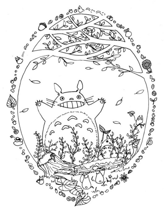 totoro coloring picture for your little one