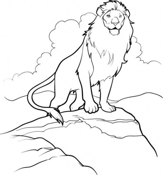 Aslan The Great Lion Narnia Coloring Page