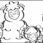 Baa Baa Sheep Teddy Bear Mary Little Bo Peep Eep the Mouse Jack B Nimble Mother Goose Coloring sheet