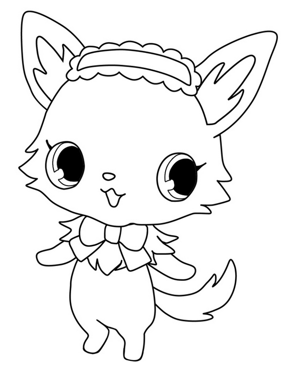 Best Jewelpet Sweetspets Coloring Sheet