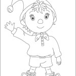 Best Noddy coloring sheet for small children