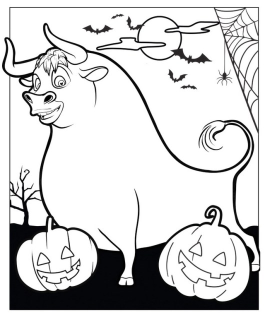 Ferdinand Movie in Halloween Day Coloring Pictures
