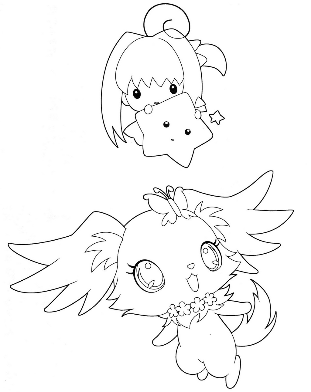 Fun Jewelpet Coloring and Activity Page for Kids