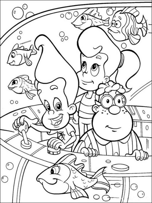 Jimmy Neutron and Cindy Vortex coloring pictures