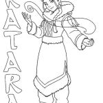 Katara from Avatar the last airbender coloring book