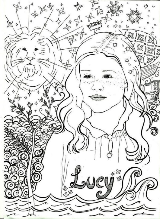 Lucy Pevensie Narnia Coloring Sheet