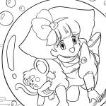 Magical Princess Minky Momo coloring page
