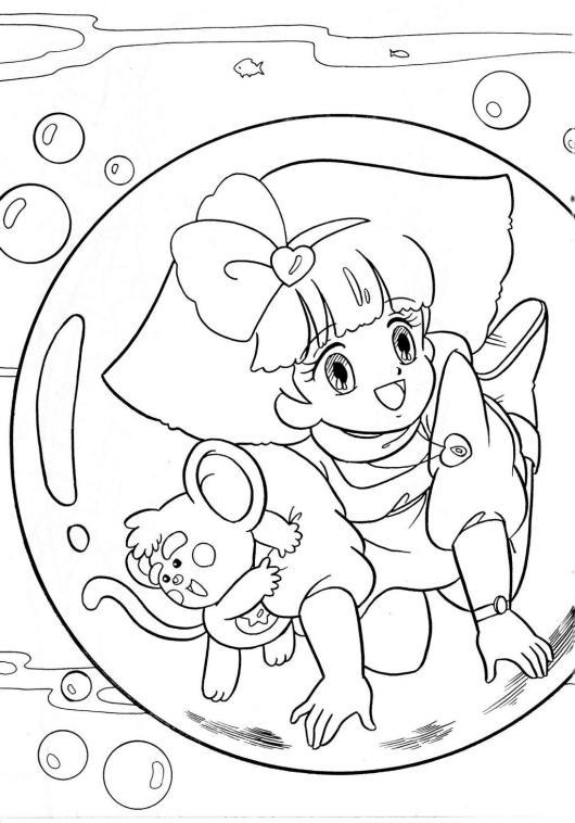 Magical Princess Minky Momo coloring page