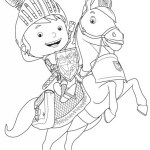 Mike the Knight Galahad the Great Coloring Sheet