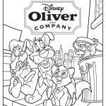 Oliver and Company Disney Cartoon Coloring Picture
