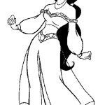 Princess Jasmine Coloring Sheets for Girls