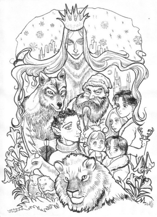The Chronicles of Narnia Series Coloring Sheet