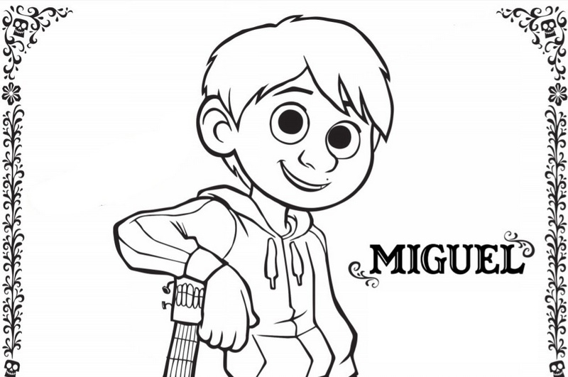Top Miguel Coco Coloring Picture for Kids