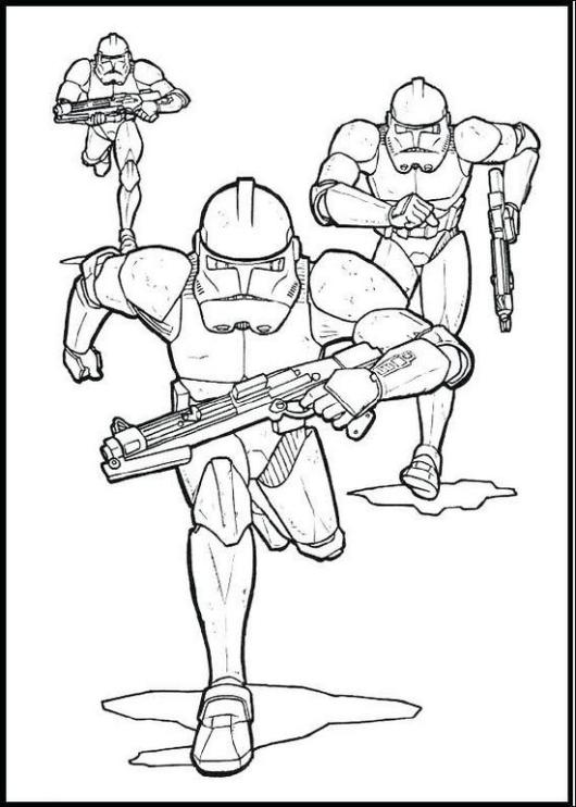 clone army phase II clone trooper coloring sheet for kids