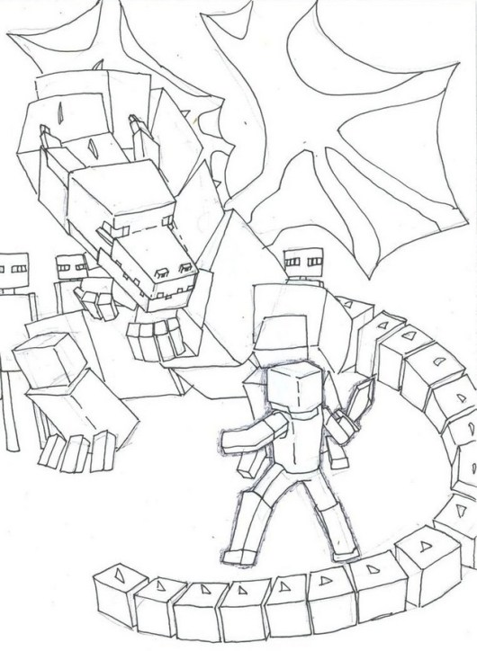 ender dragon coloring picture for kids