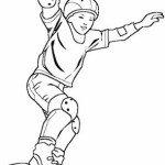 epic a boy riding skateboard coloring page