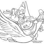 mother goose coloring sheet for kids
