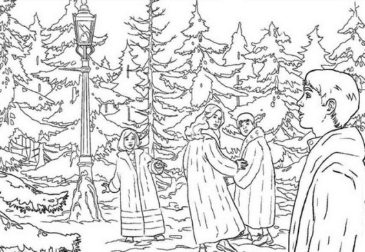 the magical world of Narnia Coloring Sheet