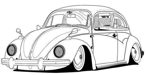 volkswagen new beetle coloring page classic vw beetle car