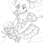 wedding peach momoko transformation coloring page