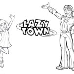 Awesome Lazy Town Coloring Sheet