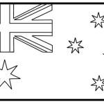 Best Australia Flag Coloring Page