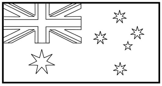 Best Australia Flag Coloring Page