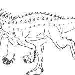Fierce Indominus rex coloring sheet