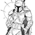 Pretty Awesome Boba Fett Coloring Sheet