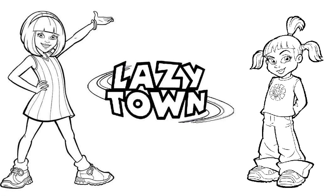 Lazy Town Coloring Pages To Print