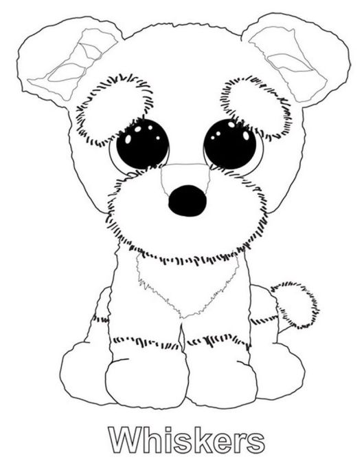 Beanie Boo Coloring Pages Featuring Favorite The Stuffed Animals And Teddy Bears Coloring Pages