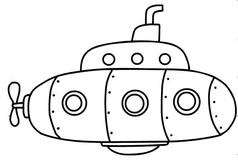 army submarine for national security coloring sheet