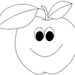 best cartoon apple with face coloring food with face coloring picture