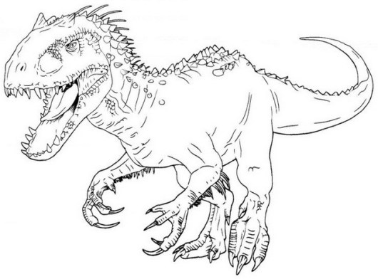 best indominus rex coloring sheets for small children