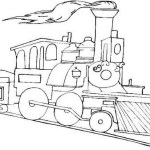 epic steam train coloring picture printable