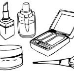 fun makeup kit coloring sheet for girls