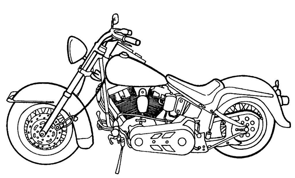 luxurious harley davidson coloring page