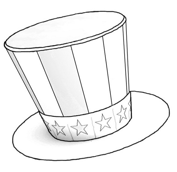 magic hat circus coloring sheet for kids