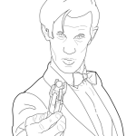 perfect doctor who coloring sheet