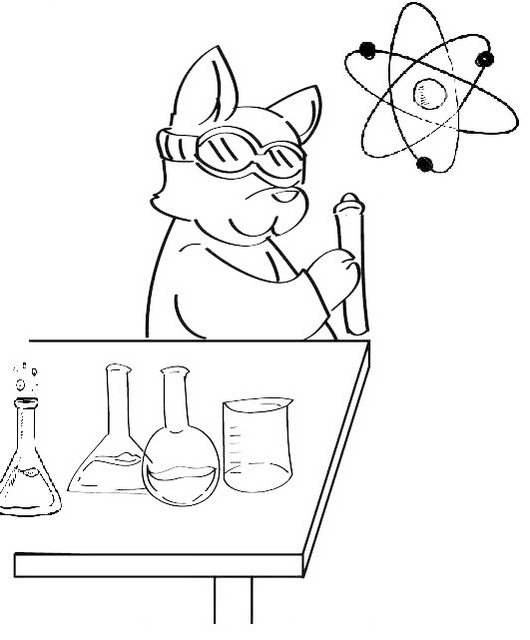 printable science chemistry coloring pages for little