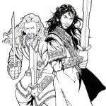 strong the hobbit coloring pictures