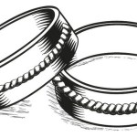 stunning wedding ring set coloring and sketch drawing page