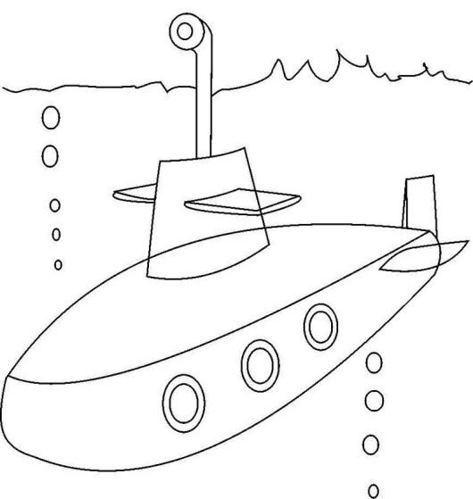submarine conatiners transport undersea coloring sheet