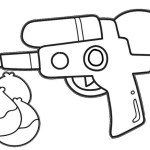 water gun water warfare coloring sheet for boys and girls