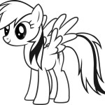 Adorable Rainbow Dash Coloring Page for Little Angels