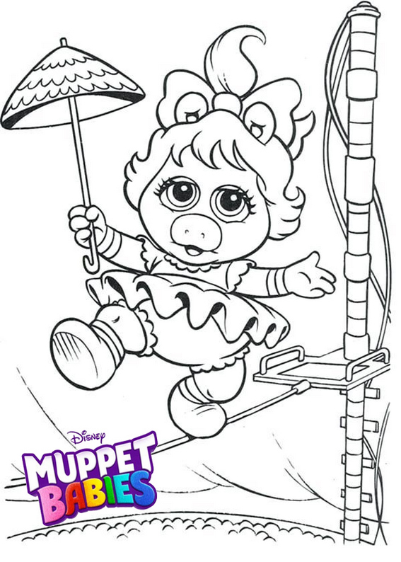 Summer Penguin Muppet Babies Coloring Pages