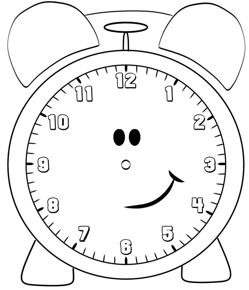 Cute Clock Coloring Pages For Children