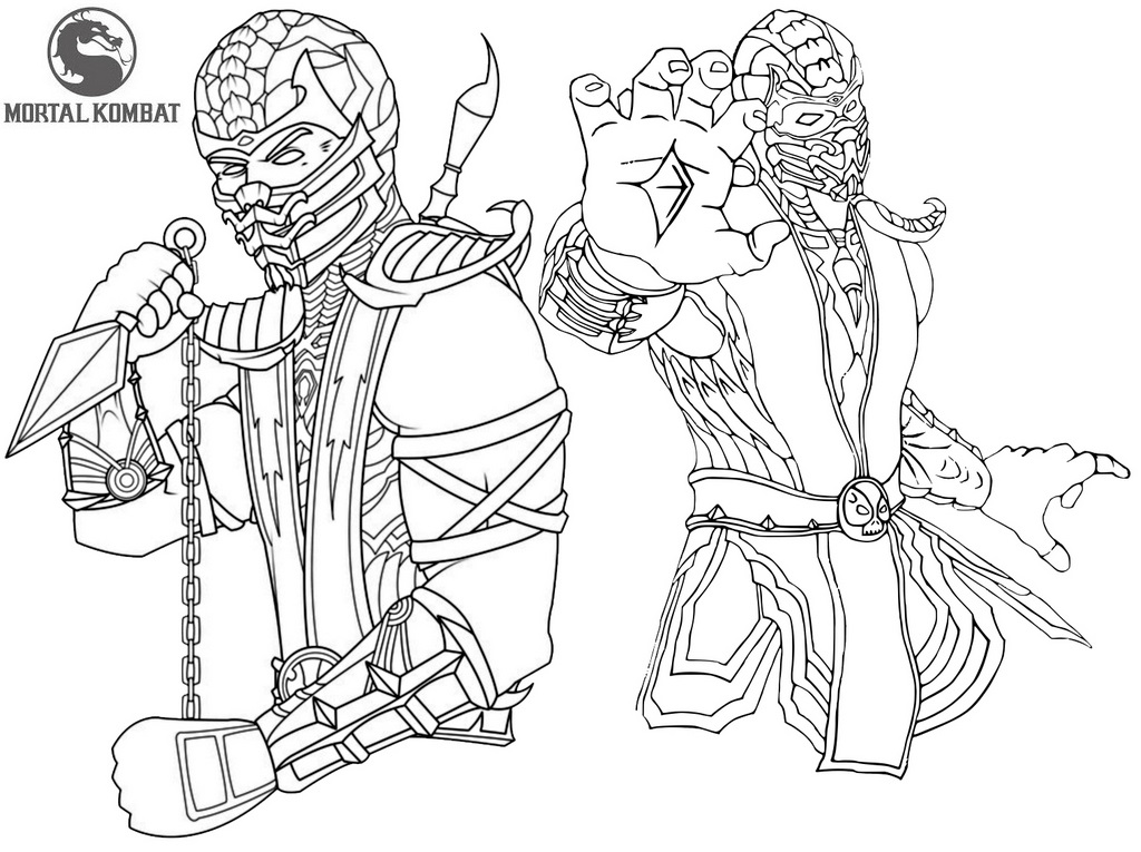 Epic and Stunning Mortal Kombat Coloring Sheet