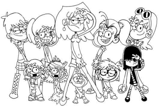 Fantastic Loud House Coloring Page
