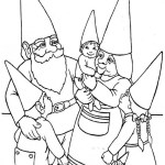 Fun Gnome Family Coloring Page for Children